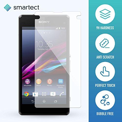 smartect Pellicola in Vetro Temperato per Sony Xperia Z1 Compact Pellicola Protettiva con durezza 9H - Salvaschermo Anti-Impronte e Anti-Bolle