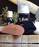 Bartpflege-Set: bestehend aus Premium Bartöl (50ml), Bartshampoo (100ml) und Bartkamm - Geschenkidee als Geschenke für Männer für den stylischen Mann - Made in Germany