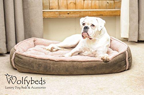 Wolfybeds Luxury Cradle Fleece Dog Bed Size Large