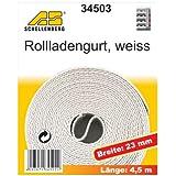 Schellenberg 34503 - Correa de persiana (23mm, 4,5m), color blanco