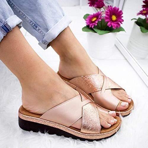 YLLX Frauen Plattform Sandale Schuhe Mit Bunion Splints Damen Sommer Strand Reise Schuhe Big Toe Hallux Valgus Unterstützung Plattform Sandale Schuhe Für Bunion Correct -