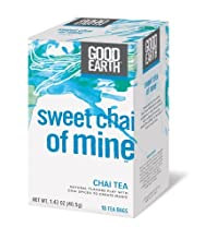 Good Earth Sweet Chai of Mine Chai Tea, 18 Count Tea Bags (Pack of 6)