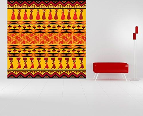 Vlies Fototapete - Afrika Design - 300x300 cm - inklusive Kleister - Tapetenkleister – Bild auf Tapete – Bildtapete – Foto auf Tapeten – Wand – Wandtapete – Vliestapete – Wanddeko - Design