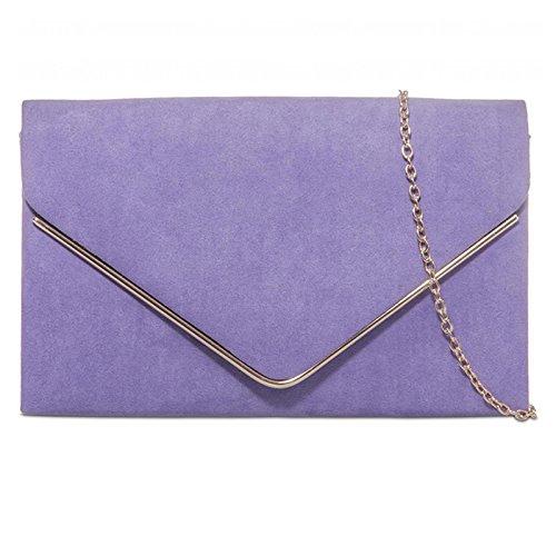 fi9®, Poschette giorno donna multicolore Grey Lilac