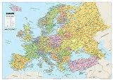 Carte de l'Europe–Papier plastifié–A0Taille 84.1x 118.9cm...