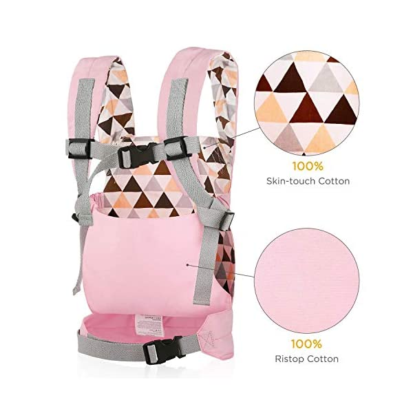 Cuby Dolls Carrier Front and Back Soft Cotton Suitable for Baby Over 18 Months, Brown Bear CUBY ★100% soft cotton material, gentle to the kids' skin. ★0.18 kg, 5.51 × 9.84 × 12.8 inches (L × W × H); The dimension of dolls should be smaller than 24.8 inches. ★ Padded shoulder and waist straps. 3