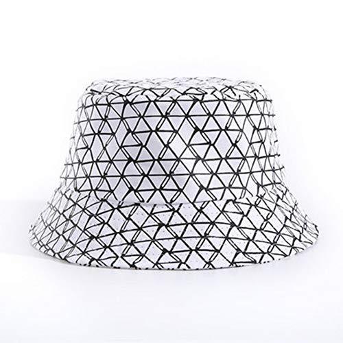 HNFAJD Baumwolle Gestreiften Gitter Eimer Hut Fischer Hut Outdoor Reisehut Sonnenkappe Hüte Männer Frauen (Baumwolle Gestreiften Eimer Hut)