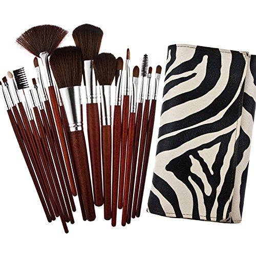 Davidsonne Lot de 18 pinceaux de maquillage professionnelle Sac Fashion Girl (Zèbre)