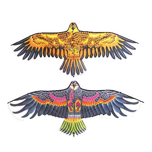 LinZX 1.1m águila apartamento Cometa con una línea de 30 m niños, Cometa de Kitesurf de Aves Juguetes de Tela Juguetes de jardín para Regalo de los niños