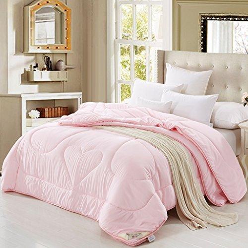 MMM Gardez le Quilt d'hiver chaud Combo Bamboo Pulp Fiber Thicker Quilt Core ( Couleur : Rose , taille : 200*230cm(5kg) )