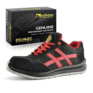 51gpDi8INeL. SS300  - Zapatos de Seguridad Deportivos Ultra-Ligeros - SAFETOE 7329 Calzado de Seguridad Hombre Trabaja con Tus pies Bien protegidos
