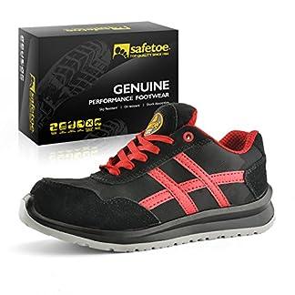 Zapatos de Seguridad Deportivos Ultra-Ligeros – SAFETOE 7329 Calzado de Seguridad Hombre Trabaja con Tus pies Bien protegidos