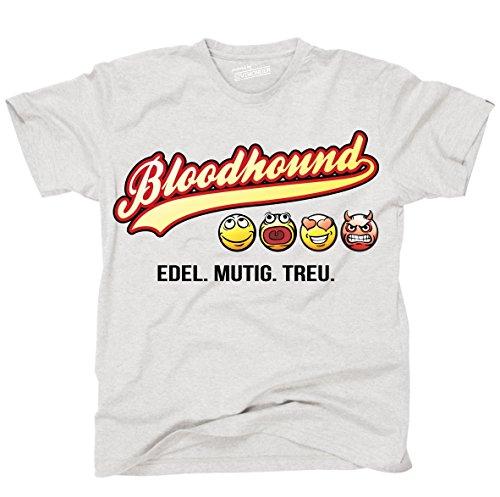 Siviwonder Unisex T-Shirt BLOODHOUND - OLD SCHOOL EDEL MUTIG TREU Hunde Ash