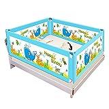 4Pcs Barriera Letto Bambini Sicurezza Protezione sponda per Letto Universale Sbarra per Letto,Blue,2m*1.8m