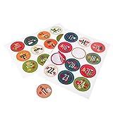 2x 24Advent Stickers autocollant, Advent, pour travaux manuels d'un calendrier de l'avent, Belle de Noël Motifs, dimensions 40mm de diamètre