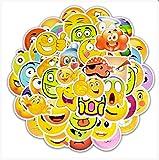 YLGG Autocollant Dessin animé émoticône Autocollant Enfant Jouet Valise Moto Valise Ordinateur Portable téléphone Mobile Skateboard Mur Graffiti drôle Autocollant 50pcs...