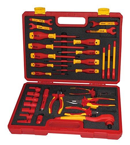 BOOHER 0200408 VDE isoliertes Werkzeug-Set, 30 Teile