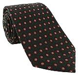 Grün Minimedaillon Wolle Krawatte