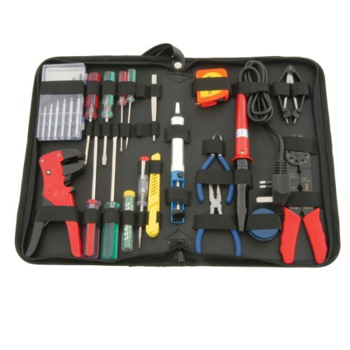 electronic-tool-kit-set-soldering-iron-precision-screwdrivers-cable-stripper