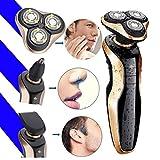 4D Nass- & Trockenrasierer Wasserdichter Rotationsrasierer Elektrischer Rasierer für Männer, (USB Aufladen) speed-yy