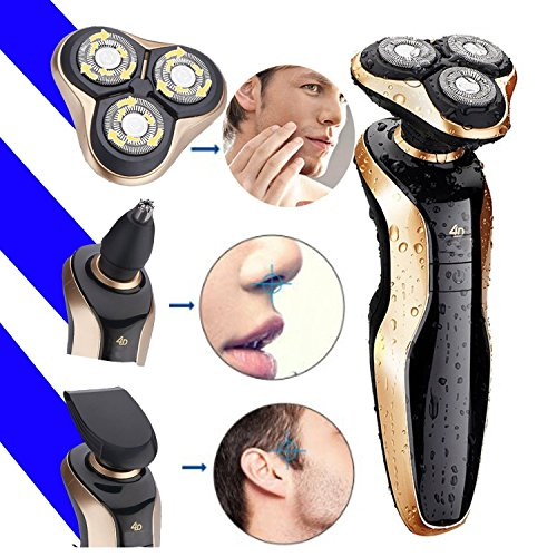 Shaver NEW 4D Floating Men's Electric Razor Beard Shaver Rechargeable Washable Razor Cordless Savers for men speed-yy