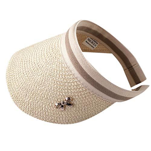 Syeytx Damenhut Outdoor verstellbare Kappe Sommer Sonnencreme Sonnenhut Mesh Strohhut