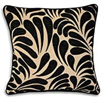 Riva Paoletti Dubai Cushion Covers, Black, 55 x 55 cm