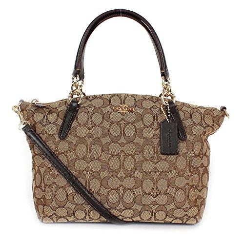 Coach Signature Small Kelsey Satchel Shoulder Bag Handbag -