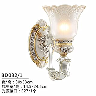 LIYAN Europeanwalllampbedroomwalllampbedsidelightlivingroomlampwalllightsimpleeuropeanlampstaircaselampcorridorlighting,bd032 Single Wall Lights, The LED Light Source