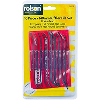Pack Of 10 Double Ended Riffler Files Jeweltool Mcguinness