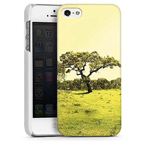 Apple iPhone 4 Housse Étui Silicone Coque Protection Arbre Paysage Prairie CasDur blanc