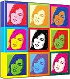 Gabrielle Richens - Pop Art Print (3-Tone; Andy Warhol's Che Guevara Style) 50 x 50 x 2 cm Large Square Deep Box Canvas