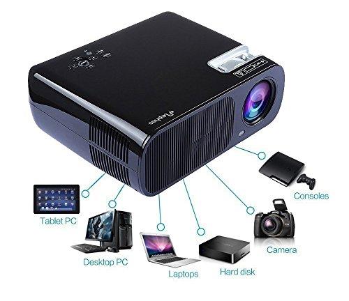 ELEPHAS EB-X6 Multimedia LED Projector - Black