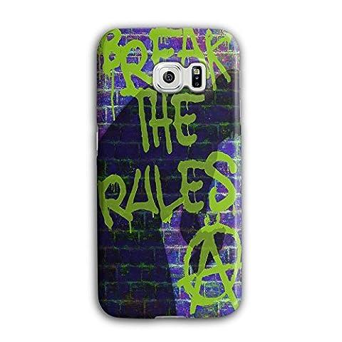 Break Rules Art Fashion Toxic Rebel 3D Samsung Galaxy S6 Edge Case | Wellcoda