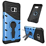 Easy Go Shopping Handy-Cover, Für Samsung Galaxy S7/G930 Stoßfest 360 Grad Spin Tough Rüstung TPU + PC Kombination Fall (Color : Blue)