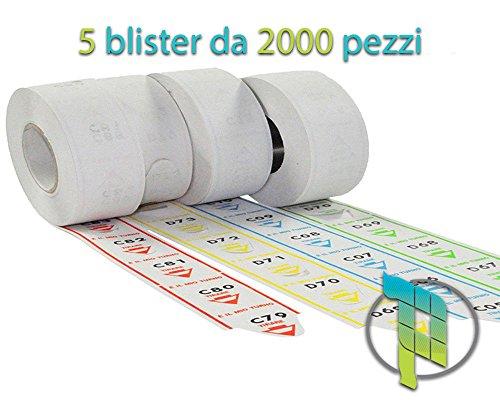 Palucart eliminacode rotoli biglietti turno - 10.000 Tickets a strappo per sistemi eliminacode colore BLU o VERDE