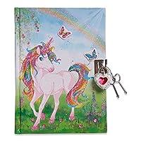 Lucy Locket Magical Unicorn Kids Secret Diary (Lockable Diary With Padlock & Keys) Glittery Diary for Children
