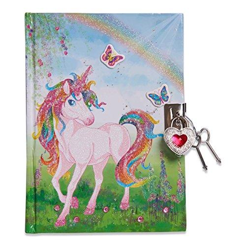 Lucy Locket Magische Einhorn Tagebuch mit Schloss für Kinder - Rosa - Tagebuch Mädchen