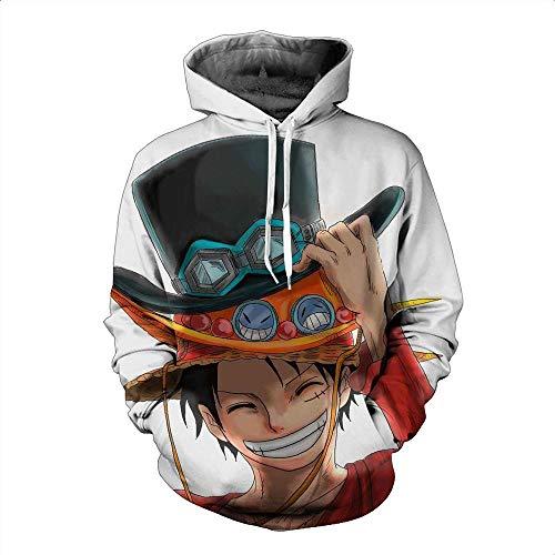 Lonimor Mens 3D Print Hoodie Pullover Sweatshirt Pullover Mit Kapuze Sweat Baseball Jersey Cosplay Langarm One Piece L