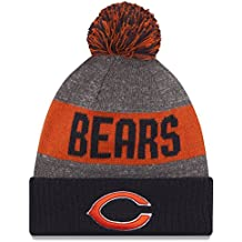New Era Nfl Sideline Bobble Knit Chibea Otc - Cappello Linea Chicago Bears da Uomo, colore Blu, taglia OSFA