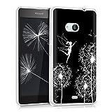 kwmobile Microsoft Lumia 535 Hülle - Handyhülle für Microsoft Lumia 535 - Handy Case in Weiß Schwarz