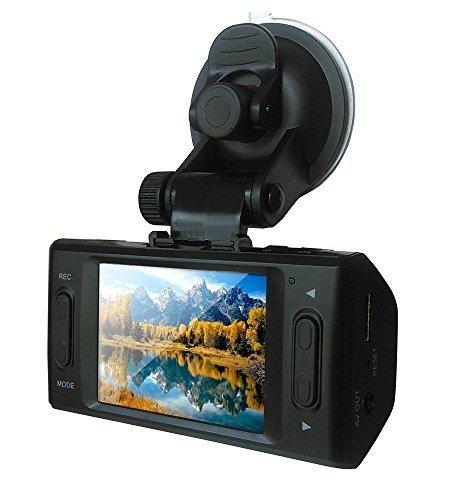 Auto-Kamera Stoga Ubox STV300 2,7 Zoll Bildschirm Dual Kamera 5MP Auto Blackbox DVR mit GPS-Datenlogger und G-Sensor-schwarz