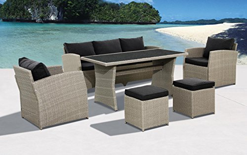 Pure Home & Garden Hohe Dinning Poly Rattan Lounge Skyline XXL, aus dem Hause - Home Lounge-sessel