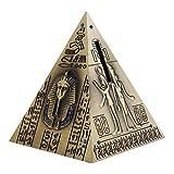 MagiDeal Vintage Ägypten Pyramide Spardose, 10,5 x 10,5 x 13 cm - Bronze