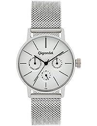 Gigandet Quarz Damen-Armbanduhr Minimalism Multifunktion Uhr Datum Analog Edelstahlarmband Silber G38-005