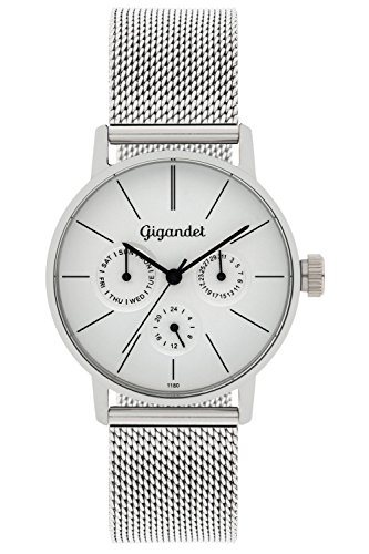 Gigandet Minimalism Women's Analogue Wrist Watch Quartz Multifunction Silver G38-005