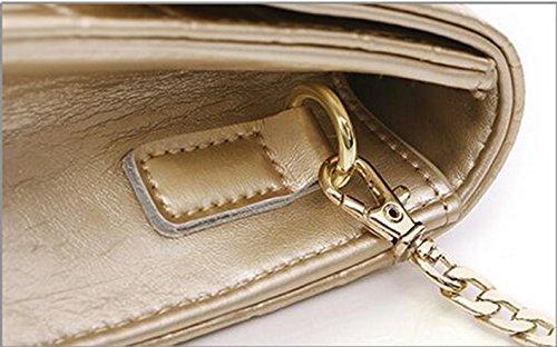 Sacchetto di mano, l'Europa ed il sacchetto di sera di diamante degli Stati Uniti, sacchetto obliquo della spalla di modo ( Colore : Nero ) Oro