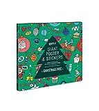 Equilibre et Aventure Grand Poster Sapin de Noël à colorier 100 x 70 cm avec + de 100 Stickers