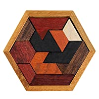Winkey Baby Toy, Educational Puzzles Wooden Toys Tangram Jigsaw Board Geometric Shape Puzzle Toy,The Best Toy Gift