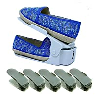 Amco Adjustable Shoe Slots, Space Saving Storage Shoes Organizer (Pack of 5)